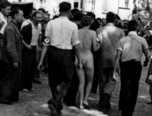 Avignon 25 août 1944 femme tondue